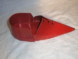 Fém Kaspó - kovácsoltvas - manó cipő - nehéz - vastag 24 x 10 x 7 cm különleges Karácsonyi dekoráció