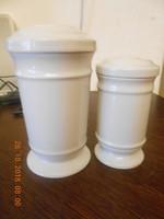 Antik Zsolnay porcelán patika tégelyek 2 db