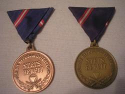U1 Osztrák kitüntetések  eredeti szalagjával