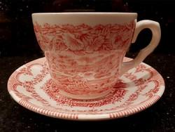 Angol jelenetes porcelán teás, kávés, reggeliző szett