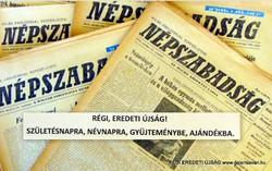 1974 november 17  /  NÉPSZABADSÁG  /  SZÜLETÉSNAPRA RÉGI EREDETI ÚJSÁG Szs.:  4064