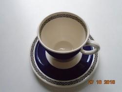 Villeroy&Boch Mettlach Saar SAPHIR mintás kobaltkék kávés/teás csésze alátéttel