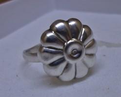 Egyedi szép ezüst virág gyűrű