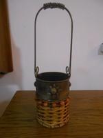 Bortartó fonott vessző fém antikolt