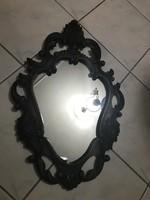 Álomszép bronzirozott fém keretes barokk tükör.