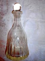 Antik  metszett, csiszolt hutaüveg palack