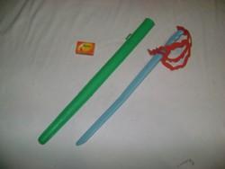 Retro műanyag játék kard és kard tok