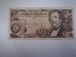 1967-es 20 Schilling VF (SORSZÁM VÁLTOZHAT !!)