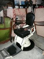Teljesen működőképes, szecessziós vonalvezetésű antik fogorvosi szék 1920 környékéről