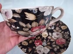 Hatalmas teás szett,dekoráció,virágos porcelán