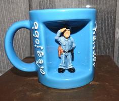 """Worldstyle csésze / bögre - háromdimenziós """" Legjobb rendőr """" bögre - ajándék bögre"""