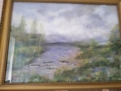 Festmény,- szignált
