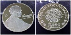 Bartók Béla ezüst 5000 Forint 2006 PP /id270/