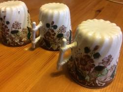 Luneville fajansz kávés csészék