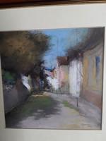 Pósa Ede: Napos falusi utca
