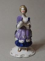 Barokk női mini porcelán