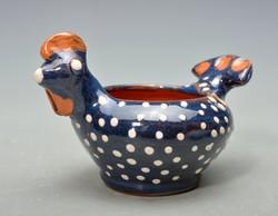 Kun Gazda Karcag tyukocska alakú váza, tálka,  ritka, jelzett 2.