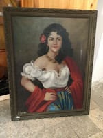 Antik festmény hagyatékból fellelt állapotban