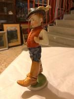 Régi herendi festett porcelánfigura-1946-ból-Telcs Ede terve