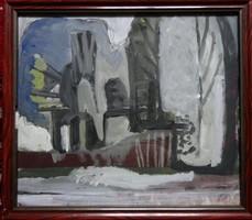 Nagyon levittem az árát! Somlai Vilma( 1938-2007) eredeti festménye
