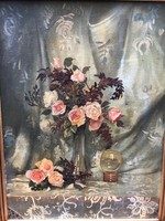 Virág csendélet, olajfestmény
