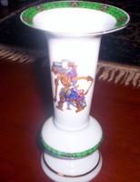 16 cm magas angol porcelán váza, különleges forma