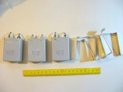 500nF 1000V olajpapír kondenzátor 500nF 1KV -régi rádiókba,csöves erősítőkbe - - - - MRI18 -