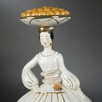 Art deco porcelán likőrös ROBj Paris1925
