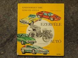 Veterán autós,könyv Moszkvics, Wartburg, Rába, Skoda stb