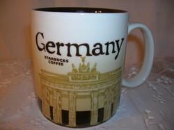 Bögre -  STARBUCK  COFEE- porcelán -  nagy - 0,5 fél liter - Német - hibátlan.