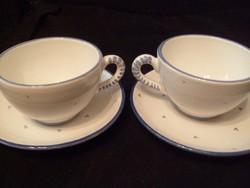 Gmundner teás/ kávés  magasfényű csészék aljjal ritkaság