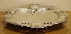 Ezüst lábas gyümölcstartó,asztalközép