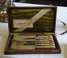 Ezüst vajazó kés készlet