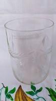 Metszett boros üveg pohár