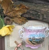 Ritka kis váza a XX.sz.elejéről Budapest látképpel