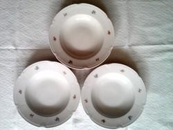 3 db Drasche porcelán mély tányér