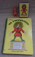 Régi jelzett Der Struwwelpeter Quartett-spiel mesés könyv mese kártya mesefigurával