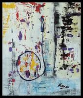 """"""" A fal """"  Koso festmény keretes akció"""