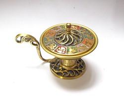 Izraeli horoszkópos réz tartó,Oppenheim.