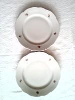 2 db Zsolnay lapos tányér