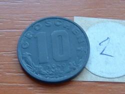 AUSZTRIA OSZTRÁK 10 GROSCHEN 1949 CINK 2.