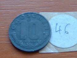 AUSZTRIA OSZTRÁK 10 GROSCHEN 1948 CINK 46.