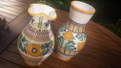 MODRA-i gyönyörű eredeti szlovák kerámia váza 2 db egyben