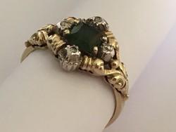 Kézzel készült egyedi gyémánt gyűrű