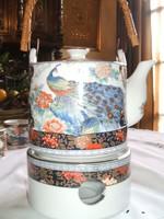 Királyi páva motívumos  japán   melegítős   teás   készlet
