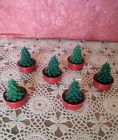 Karácsonyfa mécses figurás karácsonyi dekoráció