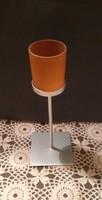 Acél gyertyatartó vagy mécsestartó több színű mécses pohár