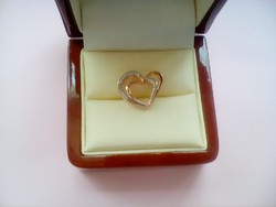 Rose aranyozott cirkonos ezüst medál
