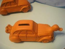 N 6 Citroen terrakotta autós perselyek cv2  kacsa ritkaság  2 db ó