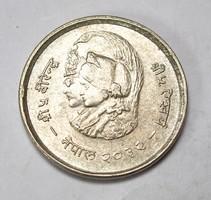 Nepál ezüst 20 rupees 1975